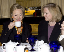 Hillary Clinton and Kirsten Gillibrand