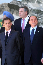 Gordon Brown, Nicolas Sarkozy, Silvio Berlusconi