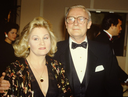 Edward Woodward and Michelle Dotrice