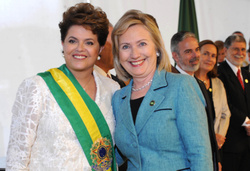 Dilma Rousseff and Hillary Clinton