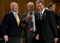 William Hague, Alain Juppe and Guido Westerwelle