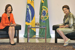 Queen Silvia and Dilma Rousseff