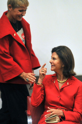 Queen Silvia and Xuxa Meneghel