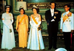 King Bhumibol, Queen Sirikit, Queen Elizabeth and Princess Anne
