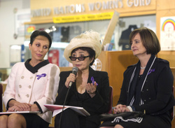 First Lady of Gabon, Yoko Ono and Cherie Blair