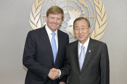 Prince Willem-Alexander and Ban Ki-moon