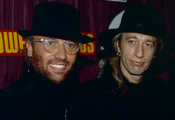 Maurice Gibb and Robin Gibb