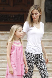 King Felipe, Queen Letizia, Crown Princess Leonor and Princess