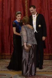 Michelle Bachelet, King Felipe and Queen Letizia of Spain