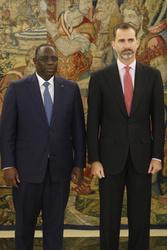 King Felipe of Spain  and President Macky Sall  of Senegal