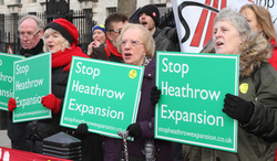 Protesters against London Heathrow Airport expansion