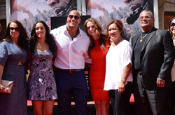 DWAYNE JOHNSON and family