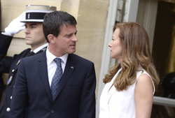 Manuel Valls and  Anne Gravoin