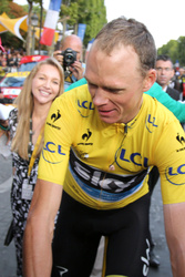 Christopher Froome and  Michelle Cound