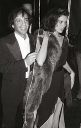 Steve Rubell and  Bianca Jagger
