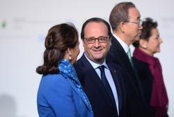 Segolene Royal, Francois Hollande, Ban Ki-moon