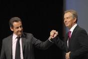 Nicolas Sarkozy  and Tony Blair