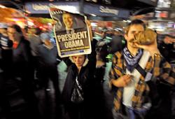 New Yorkers Celebrate President Obama