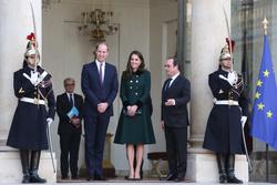 Prince William, Kate Middleton and Francois Hollande