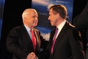 John McCain and Brian Williams