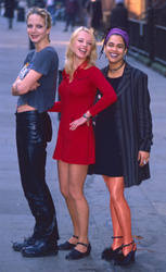 Rachel Williams, Sara Cox and Claire Goreham
