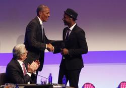 Barack Obama and Aloe Blacc