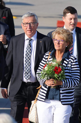 Jean -Claude Juncker and Christiane Frising