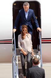 Mauricio Macri  and   Juliana Awad
