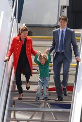 Justin Trudeau, Sophie Gregoire and Hadrien Gregoire