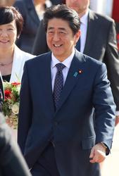 Shinzo Abe and   Akie Matsuzaki