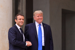Emmanuel Macron and Donald Trump