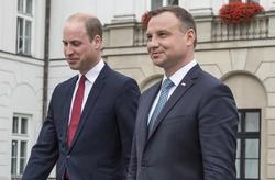 Prince William and Andrzej Duda