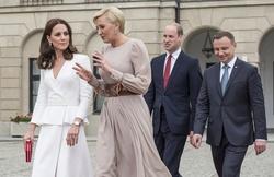 Prince William, Kate Middleton, Andrzej Duda and Agata Duda