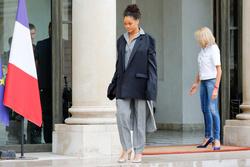 Rihanna and Brigitte Macron