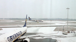 Winter at Stansted Airport