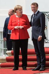 Angela Merkel and Emmanuel Macron
