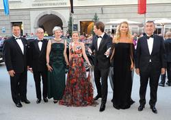 Theresa May, Philip May, Sebastian Kurz and Susanne Thier