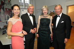 Alexandra Preuner, Harald Preuner, Theresa May and Wilfried Haslauer