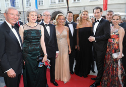 Theresa May, Philip May, Sebastian Kurz and Susanne Thier