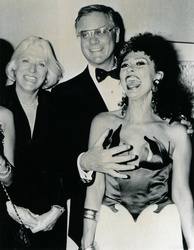 Larry Hagman, Maj Axelsson and Rita Moreno