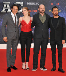Cary Fukunaga, Emma Stone, Patrick Somerville and Justin Theroux