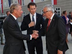 Sebastian Kurz and Jean-Claude Juncker
