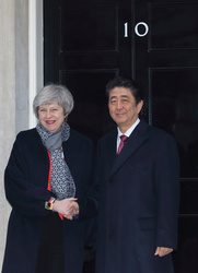 Prime Minister Theresa May with Japanese Prime Minister Shinzo Abe