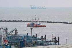 The Jetsed dredger in Ramsgate port