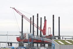 Rig vessel in Ramsgate port