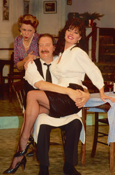 Gorden Kaye,Vicki Michelle and Carmen Silvera