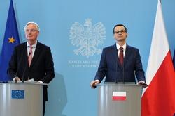 Michel Barnier and Mateusz Morawiecki