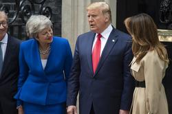 Philip May, British Prime Minister Theresa May, US President Donald Trump and First Lady Melania Trump