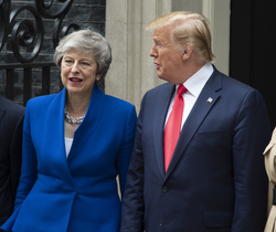 British Prime Minister Theresa May, US President Donald Trump