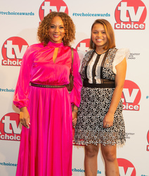 Angela Griffin and daughter